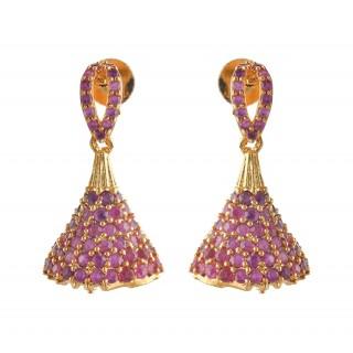 Ruby Stone Jumukka Earrings
