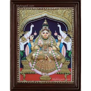 Lakshmi Double Emboss Tanjore Painting