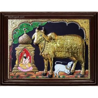Komatha Double Emboss Tanjore Painting