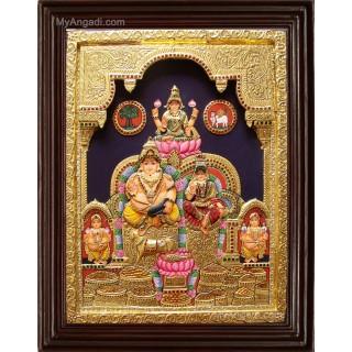 Kubera Lakshmi 3D Tanjore Painting