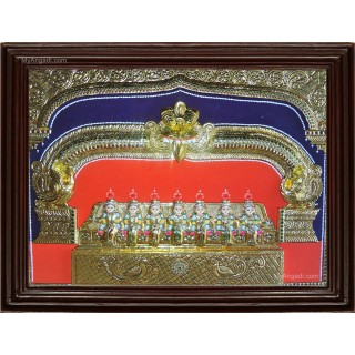 Saptha Kannikal  3D Tanjore Painting