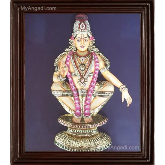 Ayyappan 3D Tanjore Painting