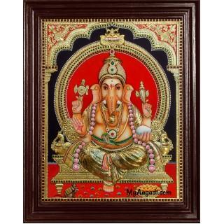 Ganesha Super Emboss Tanjore Painting