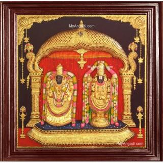 Balaji Padmavati Thayar Super Emboss 3D Tanjore Painting
