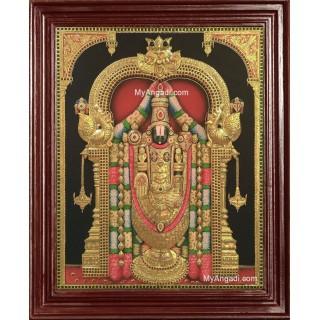 3D Tirupati Venkateswara Tanjore Painting