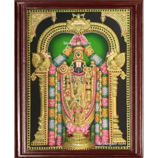 3D Balaji Lakshmi Tanjore Painting