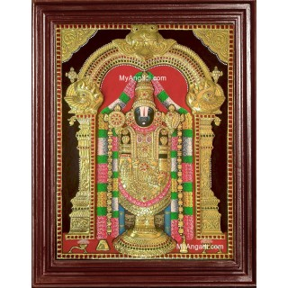 3D Thirupathi Balaji Tanjore Painting