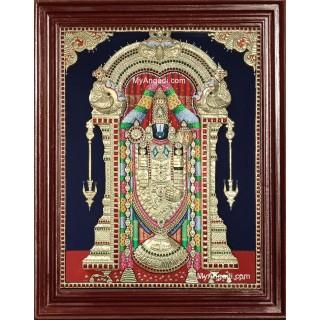 3D Tirupathi Balaji Tanjore Painting