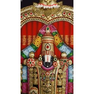 3D Tirupathi Venkateswara Tanjore Painting