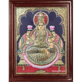 Lakshmi Embossed Tanjore Painting
