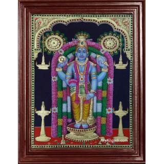 Guruvayurappan 3D Tanjore Painting