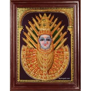 3D Renuka Devi Yellamma Tanjore Painting