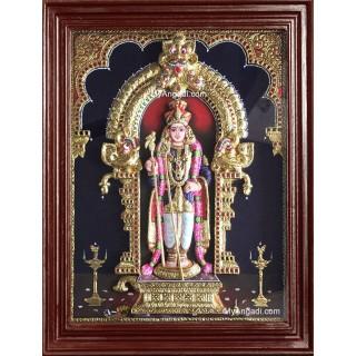 Raja Alangara Murugan 3D Tanjore Painting
