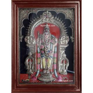 Thiruchendur Murugan 3D Tanjore Painting