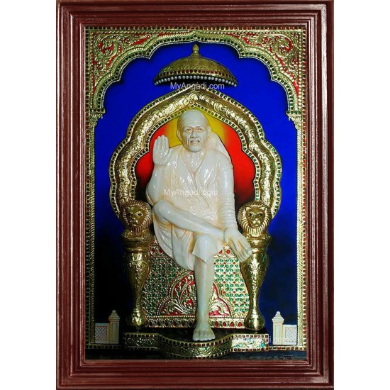 3D Sai Baba Tanjore Painting