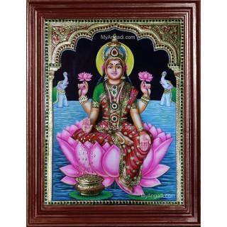 3D Gaja Lakshmi Tanjore Painting