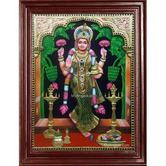 3D Graha Lakshmi - Vastu Laxmi Tanjore Painting