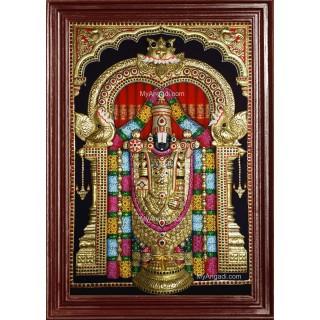 3D Tirupathi Venkateswara - Balaji Tanjore Painting