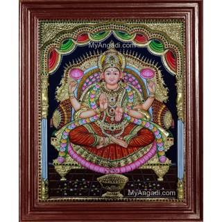 3D Maha Lakshmi Tanjore Painting