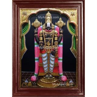 Srinivasan - Balaji 3D Tanjore Painting