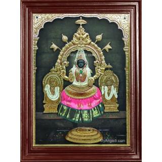 Narayani Bhagavathi Amman - Super Emboss Tanjore Painting