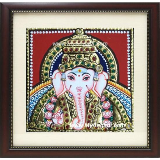 Small Ganesha Tanjore Paintings