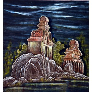 Temple Acrylic Mural Painting