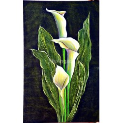 Flower Acrylic Mural Painting