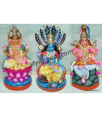 Brahma Vishnu Sivan Golu Dolls