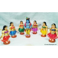 Gopiar Dance Small Golu Dolls