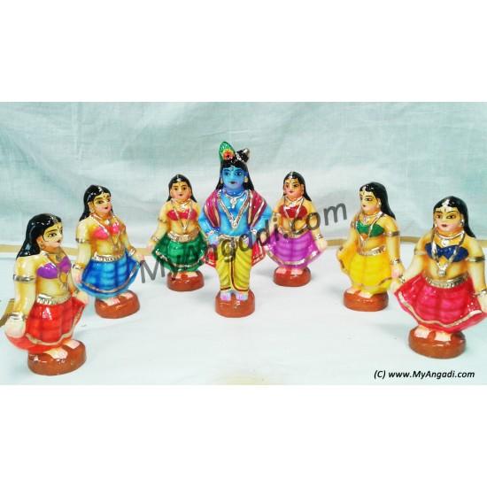 Gopiar Dance Small Golu Dolls