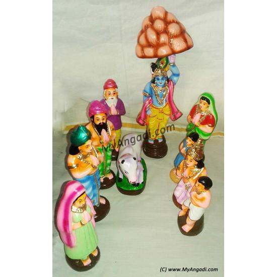 Govardhana Giri Small Golu Dolls