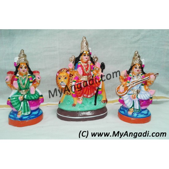Lakshmi Saraswathi Durgai Golu Dolls