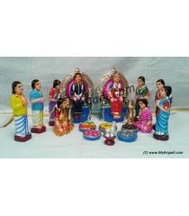 Valaikaapu Set Golu Dolls