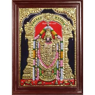 Thirupathi Venkatachalapathi Small Size Tanjore Painting