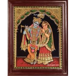 Radha Krishna Tanjore Painting
