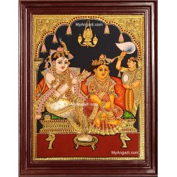 Jada Krishna Tanjore Painting