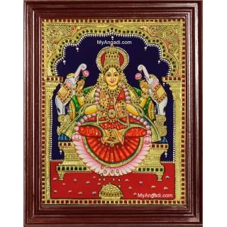 Gaja Laxmi Tanjore Painting