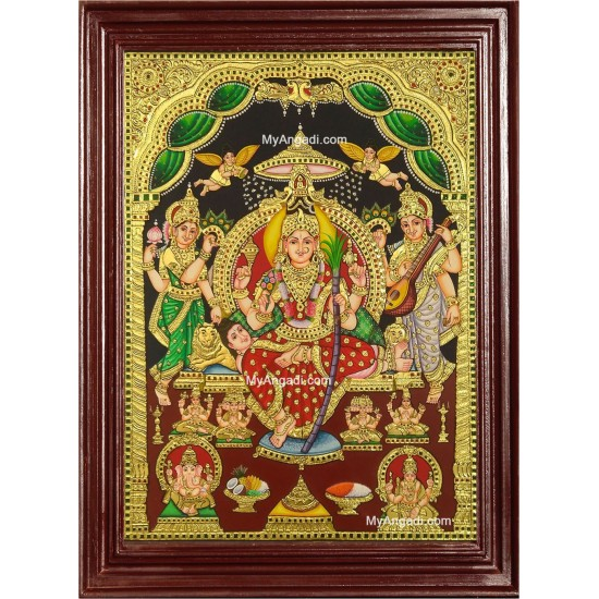 Sri Raja Rajeswari Tanjore Painting