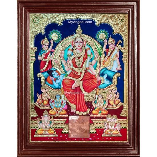 Sri Lalitha Tripura Sundari Tanjore Painting