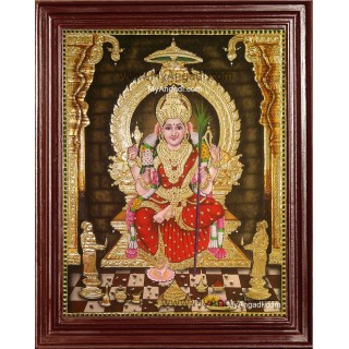 Sri Lalitha Devi Tanjore Painting