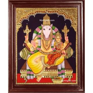 Hayagrivar Lakshmi Tanjore Painting