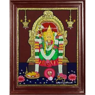 Kundathu Kaliamman Tanjore Painting