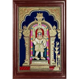 Ashtamsa Varadha Hanuman Tanjore Painting