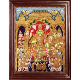 Sri Rama Pattabhishekam Tanjore Painting