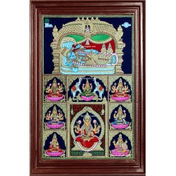 Ranganathar with Ashtalakshmi Tanjore Painting