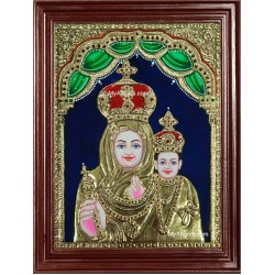 Mary with Jesus Christ Tanjore Painting