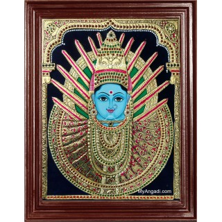 Yellama Devi – Renuka Devi Tanjore Painting