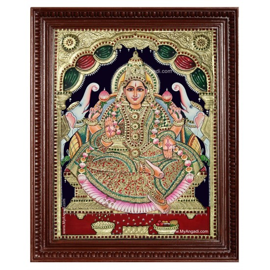 Maha Lakshmi Tanjore Painting