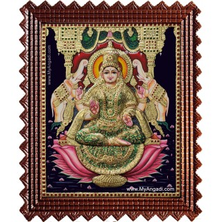 Shree Gaja Lakshmi Tanjore Painting
